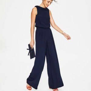 Boden Clarissa Navy Jumpsuit NWT New 2R Small S